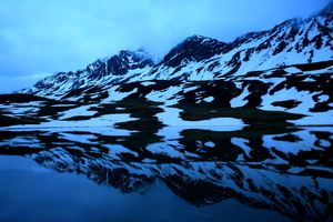 Reflection of snow mountains, Switzerland