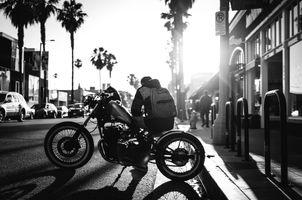Man-black-and-white-road-street
