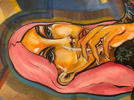 She or He, acrylic on wood, 30x40, '20