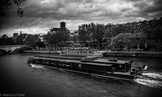 Boat on the river Seine