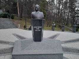 Monument to Josip Broz Tito at the Slana Banja in Tuzla