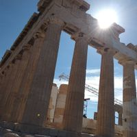 Parthenon under the sun