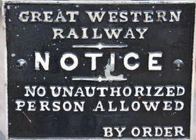 Heritage railway sign