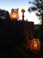 Candles in warm summer night