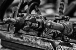 Metal machine close up