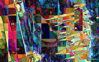 Abstract glitch art