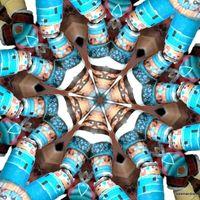 Paper beads kaleidoscope