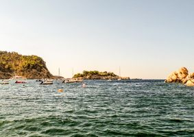 Boats in San Miguel Harbour, Ibiza.