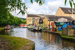 The Rochdale Canal at Sowerby Bridge Wharf