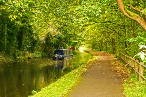 Canal Boat at Copley.