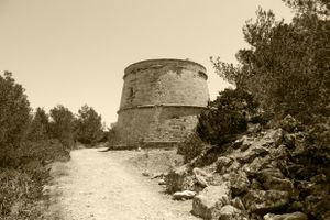 Pirate Tower at Portinatx, Ibiza.
