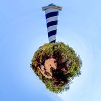 Portinatx Lighthouse above the World.