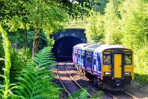 The Train Exiting the Tunnel