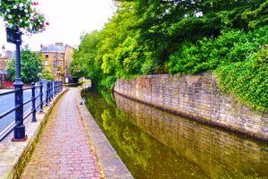Rochdale Canal towards Bridge 1a.