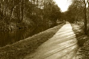 Path along the Calder & Hebble Navigation.