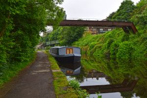 A Barge on the Calder & Hebble.