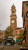 Bell Tower at the Church of the Holy Apostles of Christ. Venice