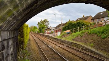 Beyond the Bridge Platform 2, Shepley Railway Station