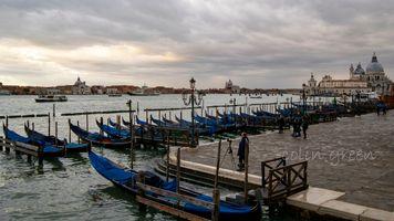 Gondola's at San Marco, Venice.