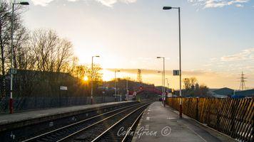 Sunset at Ravensthorpe Station