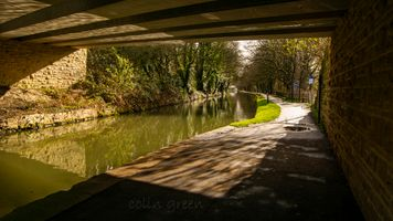 The Calder & Hebble Navigation underneath Sterne Mill Bridge