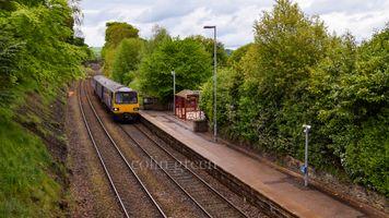 Train Approaching Shepley Railway Station.