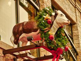Cow over the Doorway, Gene's Sausage Shop, Chicago, Illinois (2010-12-23 12-37-25_02)