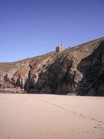 WHEAL COATES MINE FROM CHAPEL PORTH BEACH CORNWALL