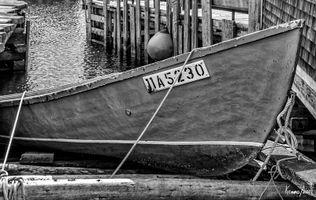 Boat at Fisherman's Cove in Black & White