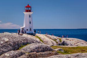 Peggy's Cove Lighthouse & Tourists