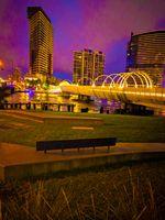 Melbourne bridge water views and buildings