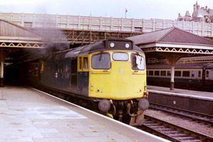 27014 leaving Edinburgh Waverley on 22oct84 - Martin Brown