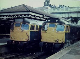 27107 and 27103 at Edi 31mar79 - Peter Sharp