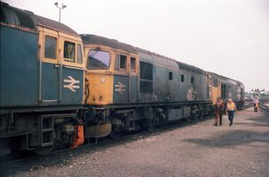 33015 @ Exeter with 33101 21jul89 - Neil Cannon