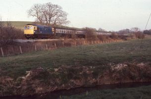 33016 @ Birchden Juns on Uckfield to East Grinstead 26apr82 - John Atkinson