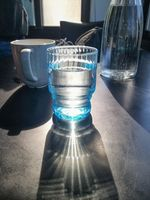 Water glass on the table