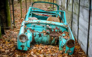 Rotten Blue Car Body