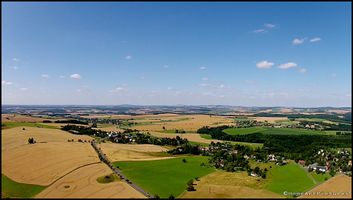The rolling hills of the Erzgebirge