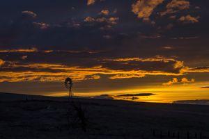 Sunset Near Columbia Gorge- Oregon - McDermand Rd. Homstead