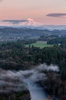 Mt Hood Sunset - HDR- Bluff Rd Sandy Oregon