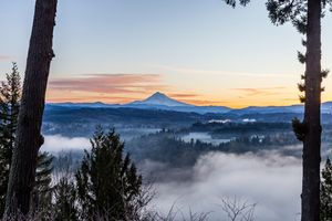 Framed Mt Hood Sunrise- Jonsrud Point