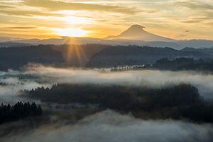 Hazy Sunrise- Mt Hood Oregon