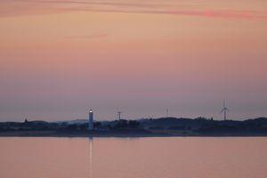 Keldsnor Lighthouse after Sunset