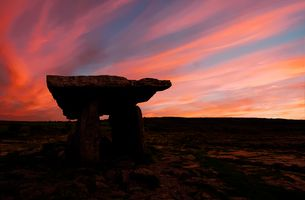 Sunset at Poulnabrone Dolmen, The Burren, County Clare, Ireland