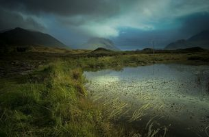 A view toward The Black Cuillins from Sligachan, Isle of Skye, Scotland