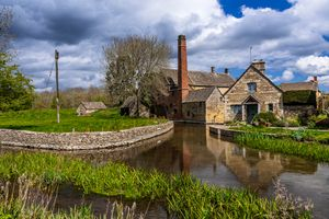 Cottage, Old Mill and The River Eye, Lower Slaughter, Gloucestershire