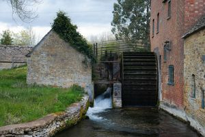 The Water Wheel of The Old Mill Museum, Lower Slaughter, Gloucestershire
