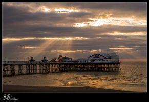 Sunset in Blackpool England UK