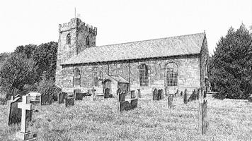 Hale Village Church Sketch