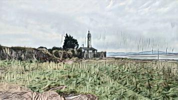 Hale Head Lighthouse drawing